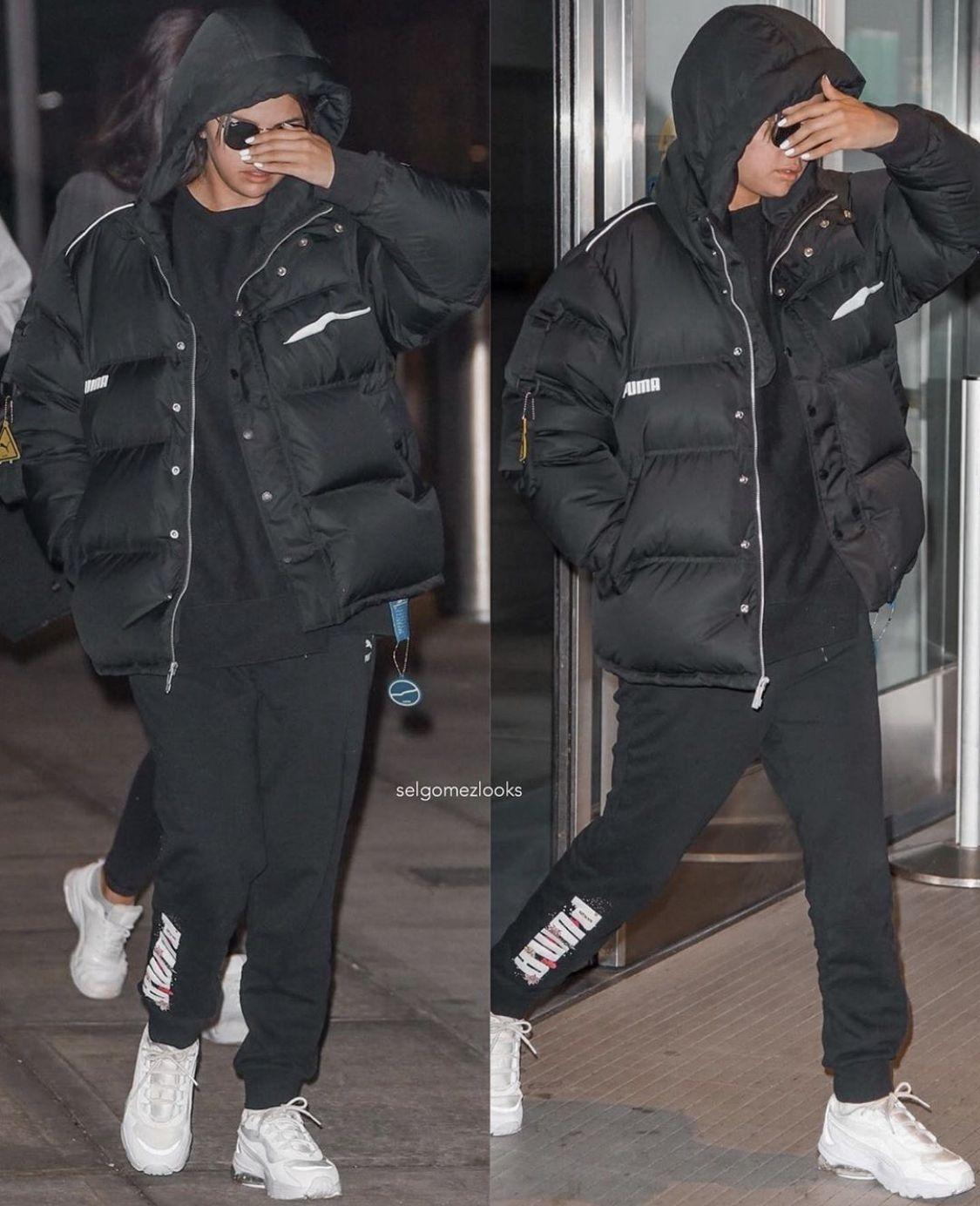 Pin By Mary On Selena Gomez Outfits Selena Gomez The Weeknd Selena Gomez Outfits Winter Jackets