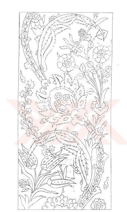 Çini motif, çini desen | Çini | Pinterest | Patrones de bordado ...