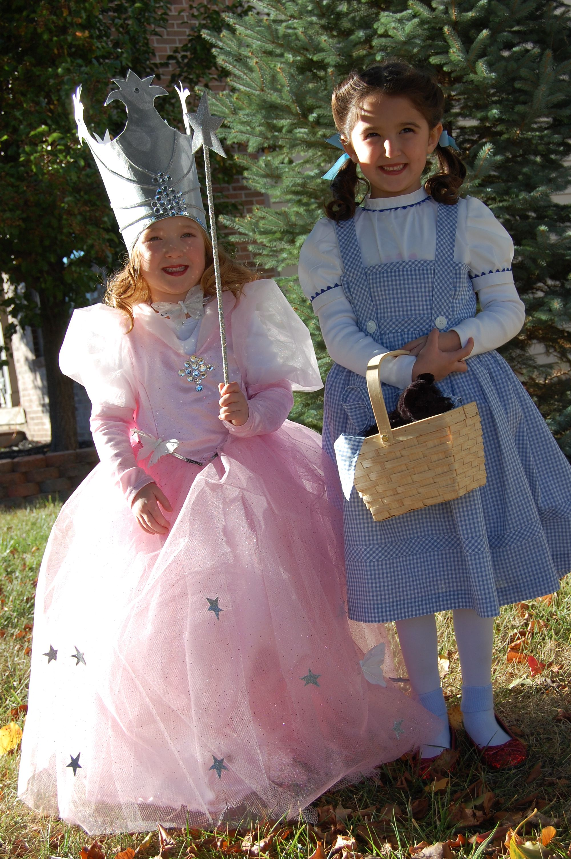 The Wizard of Oz kids costumes diy Glinda and Dorothy  sc 1 st  Pinterest & The Wizard of Oz kids costumes diy Glinda and Dorothy | Halloween ...