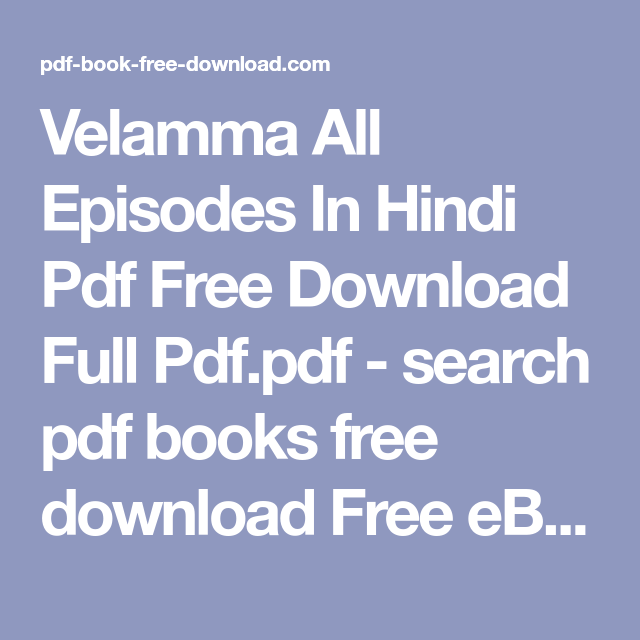 velamma all episodes in hindi pdf free download full pdf pdf