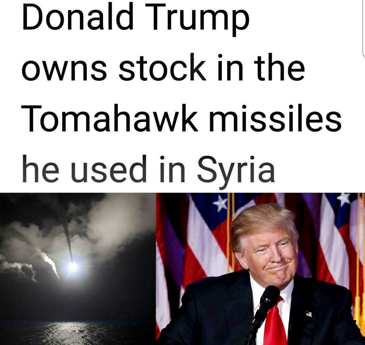Image result for trump raytheon stock