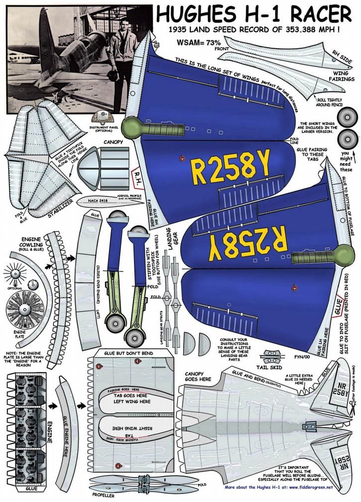Paper Airplane Diagram Of Parts 2004 Mazda 6 Bose Subwoofer Wiring Hughes H 1 Models Concepts Pinterest Model Car