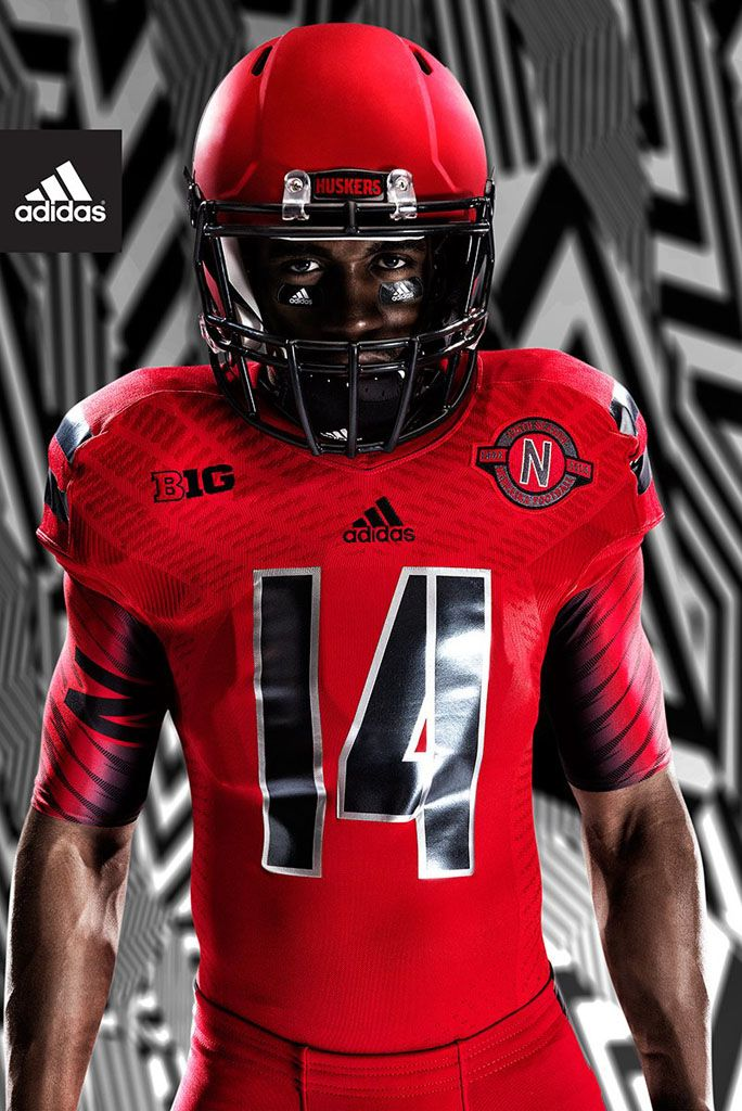 be292cbf2 University of Nebraska   adidas Unveil Red Rising TechFit Uniform (7 ...