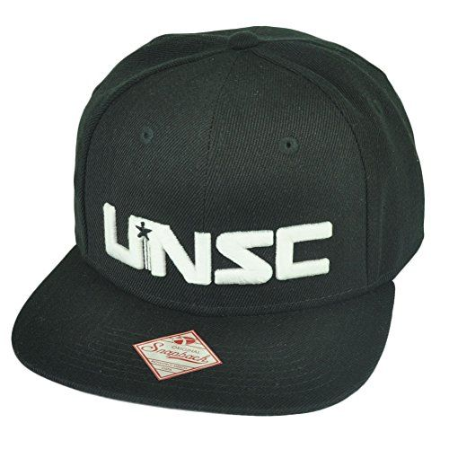 3f32c6b95d960 Halo UNSC United Nations Space Command Video Game Xbox Snapback Hat Cap  Black Bioworld http