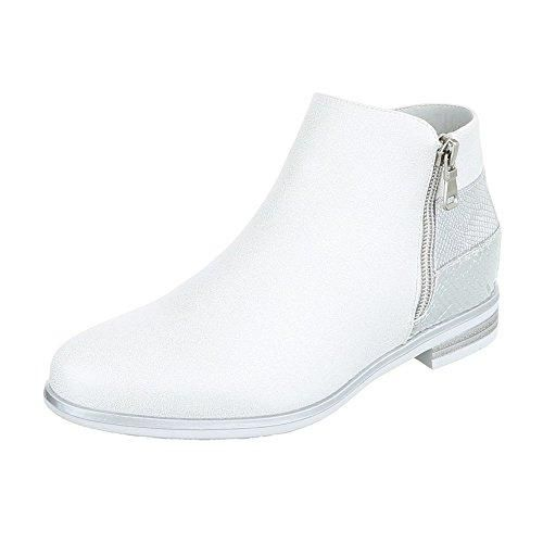 Ital-Design - Zapatos de Tacón Mujer , color Blanco, talla 37 EU