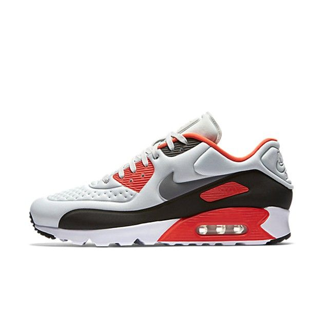 Nike Air Max 90 Ultra SE Herre Sneakers Pure Platinum/Neutral grå/lyse Crimson/Cool grå 845039-006