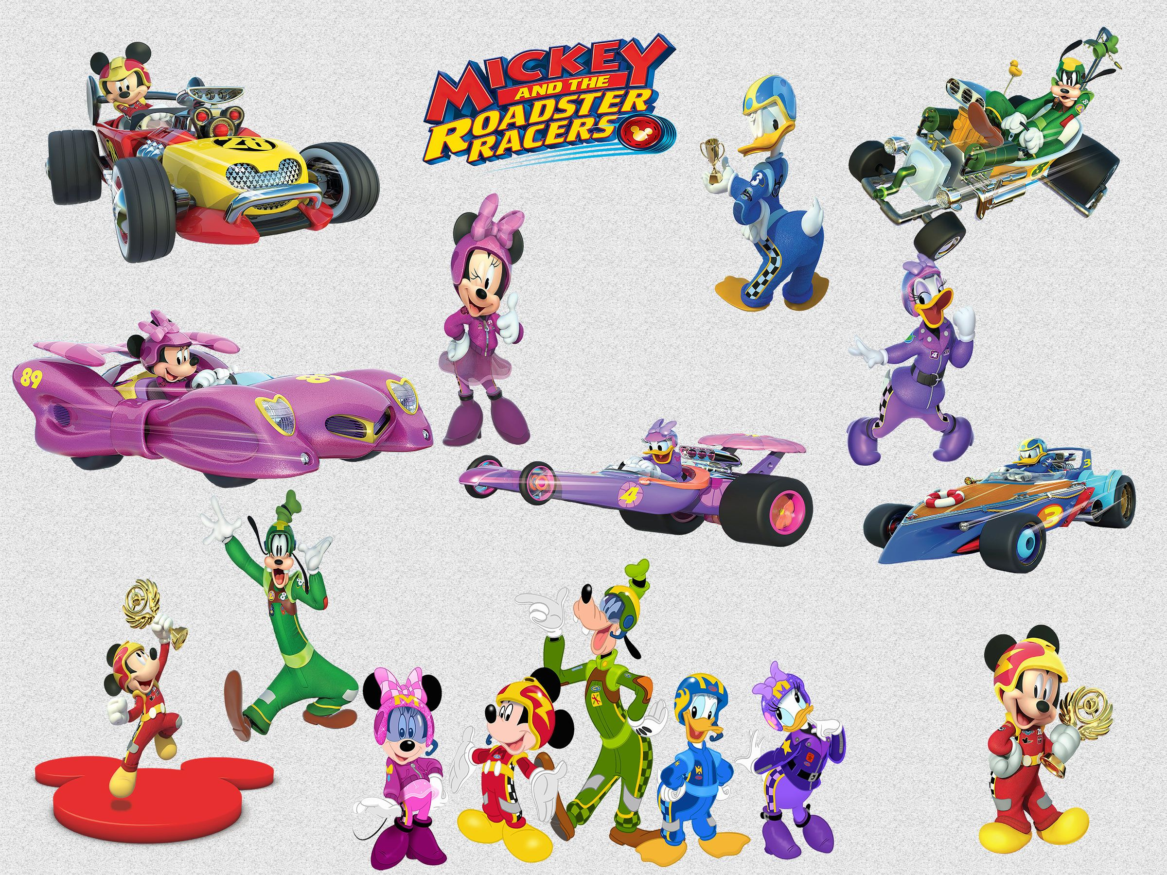 26 Mickey And The Roadster Racers Clipart 300 Dpi Png Mickey