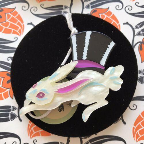 Hat Trick Rabbit Brooch Erstwilder Halloween Ebay Halloween Charms Halloween Items Silver Pumpkins