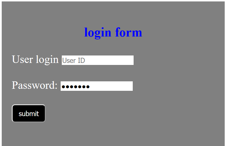 How To Create A Login Form Using Html And Css In 2020 Login Form Form Login
