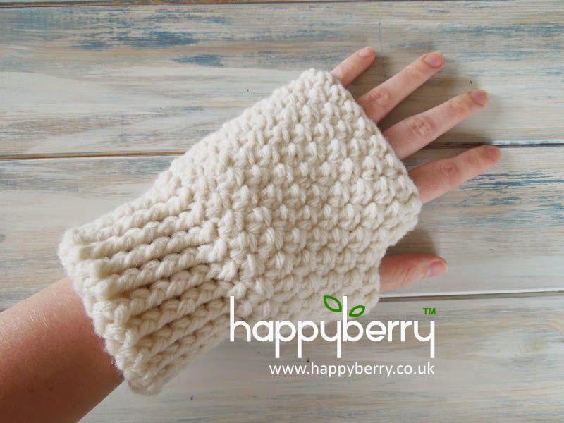 Happy Berry Crochet: How To - Crochet Finger-less Mitten Gloves