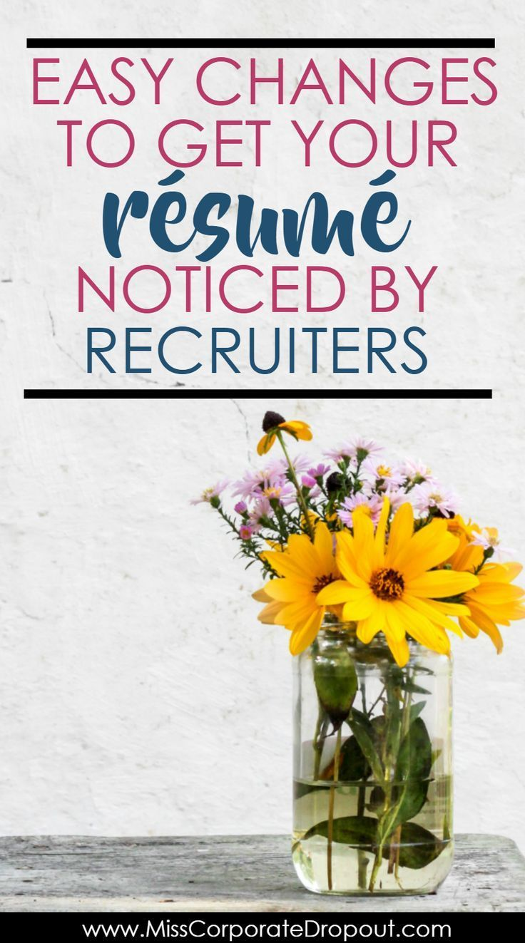 How To Get Your Resume Noticed By Recruiters Career Project Hot