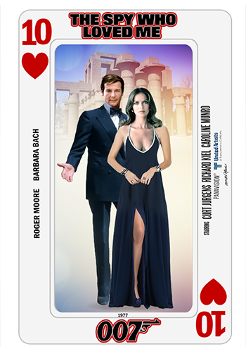 Bond Cards series collage by PMitchel #rogermoore #barbarabach #thespywholovedme…