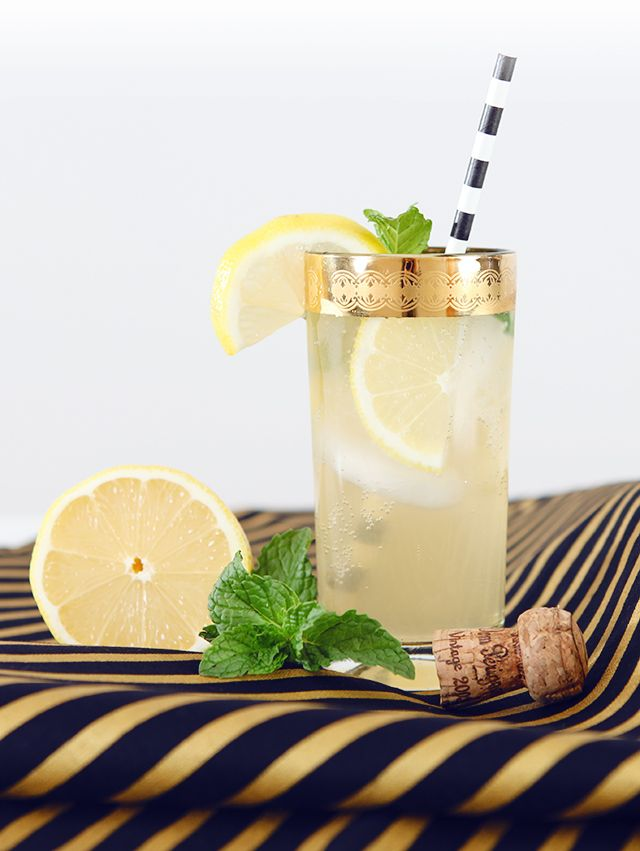 A champagne cocktail that is refreshing and easy to make. Would be a wonderful signature cocktail or signature drink at any special occasion like a wedding or party. Just add gin, lemon and mint.   HOUSE OF HIPSTERS:Champagne Smash Cocktail Recipe - HOUSE OF HIPSTERS