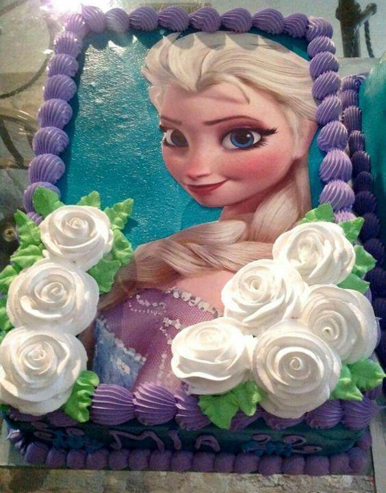 Bolos Com Papel Arroz 1 Com Imagens Bolo Aniversario Frozen
