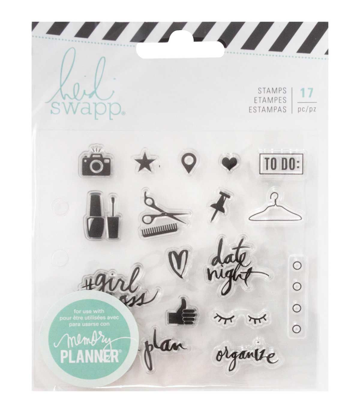 Everyday Heidi Swapp Memory Planner Clear Stamps-Color Fresh
