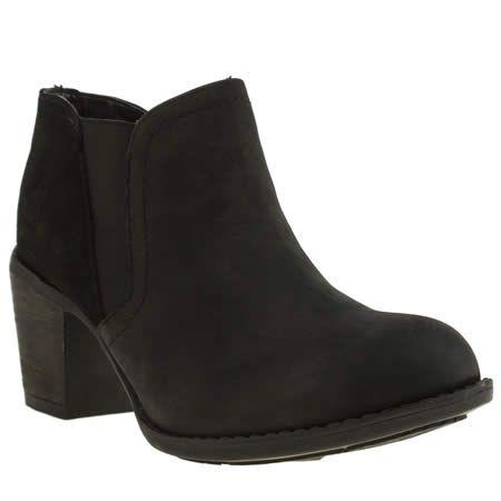 For Women Hush Puppies Black Womens Moorland Chelsea Boots Black Shoes
