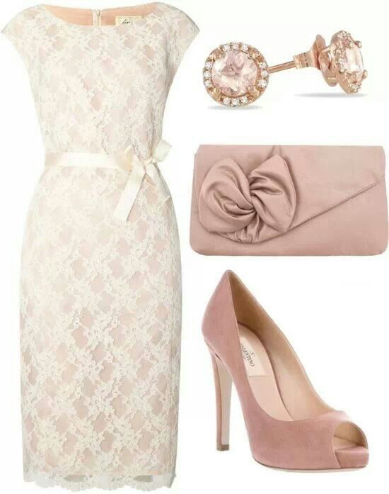 05efe2dcdaccb Beige & dusty rose. Dress is a beige - dusty rose color the shoes ...