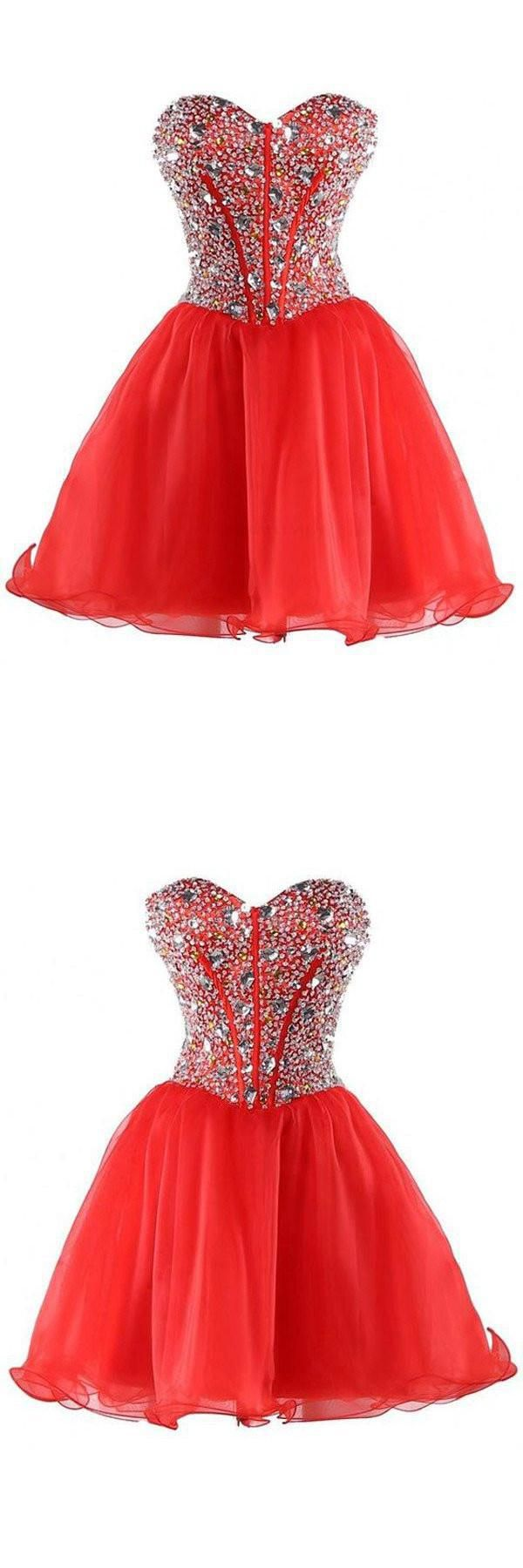 Mermaid sweetheart organza bead homecoming dress cocktail dress in