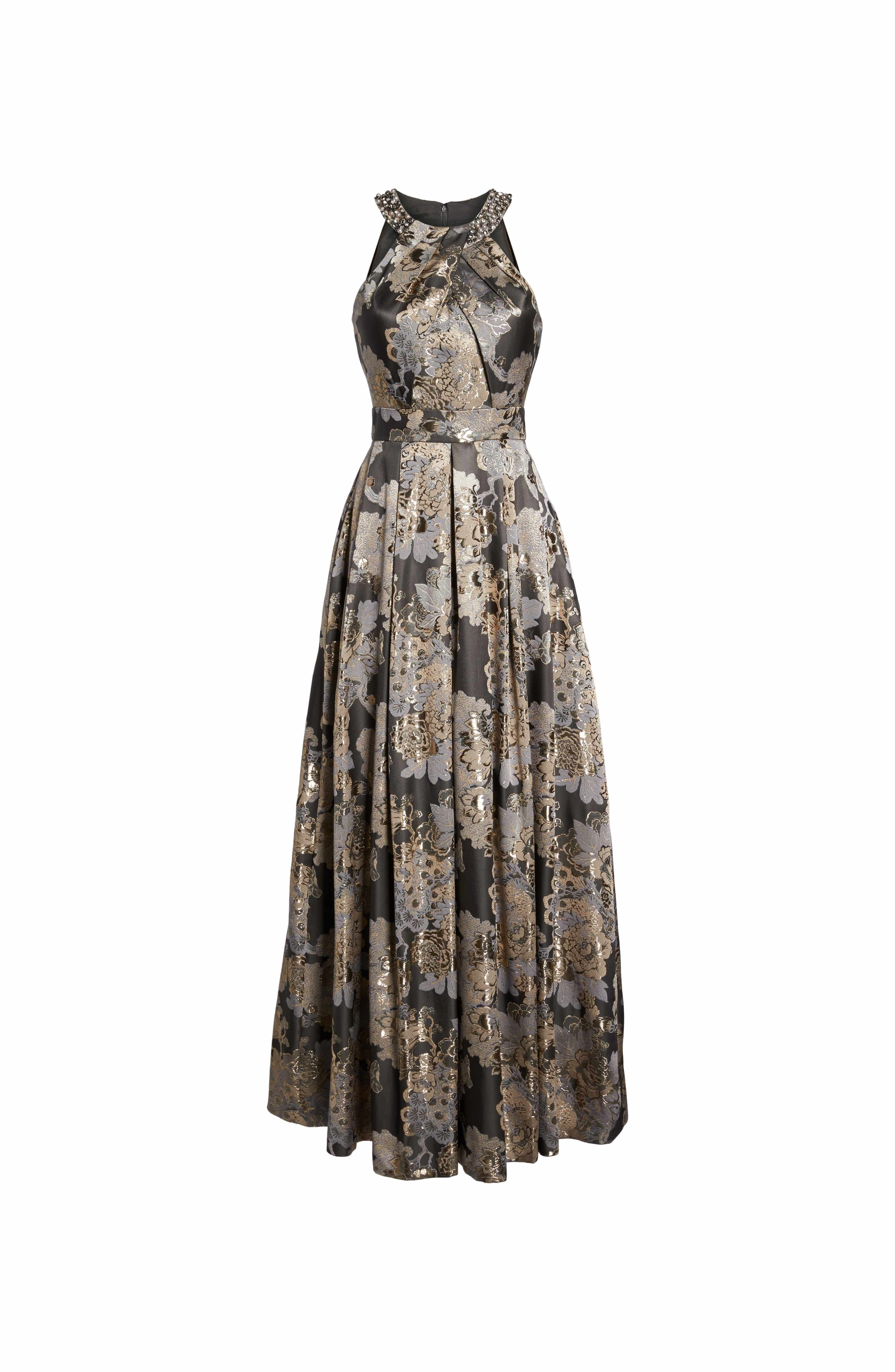 Embellished metallic jacquard ballgown metallic nordstrom and bodice