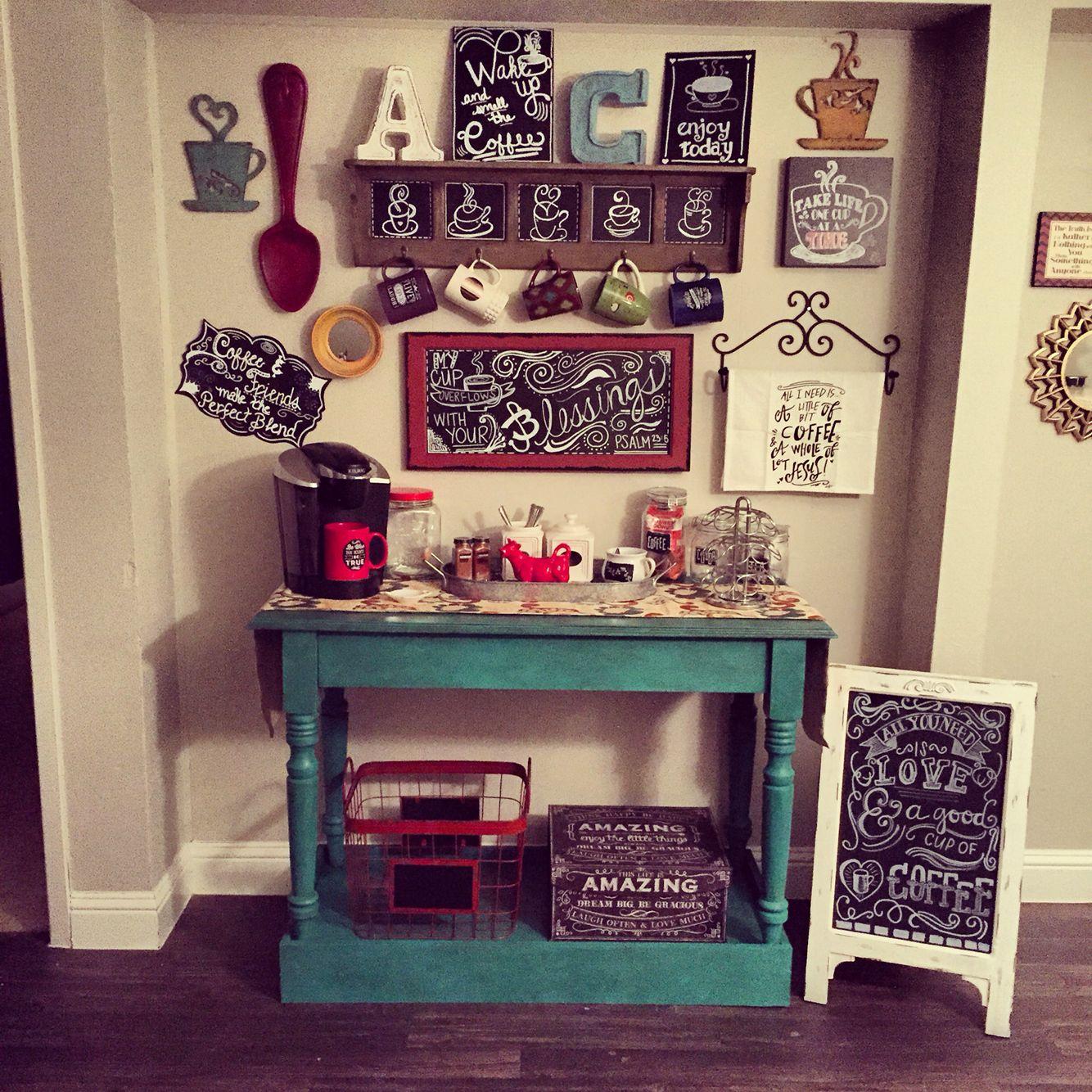 My DIY coffee bar. ❤   Duplex ideas   Pinterest   Küchen ideen ...