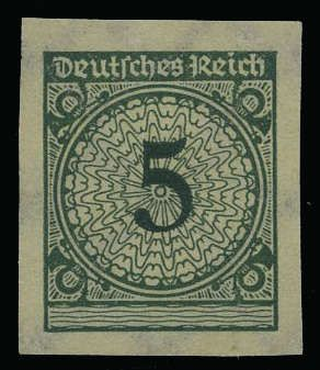 German Empire 1923 32 Weimar Republic Michel 339a U 5
