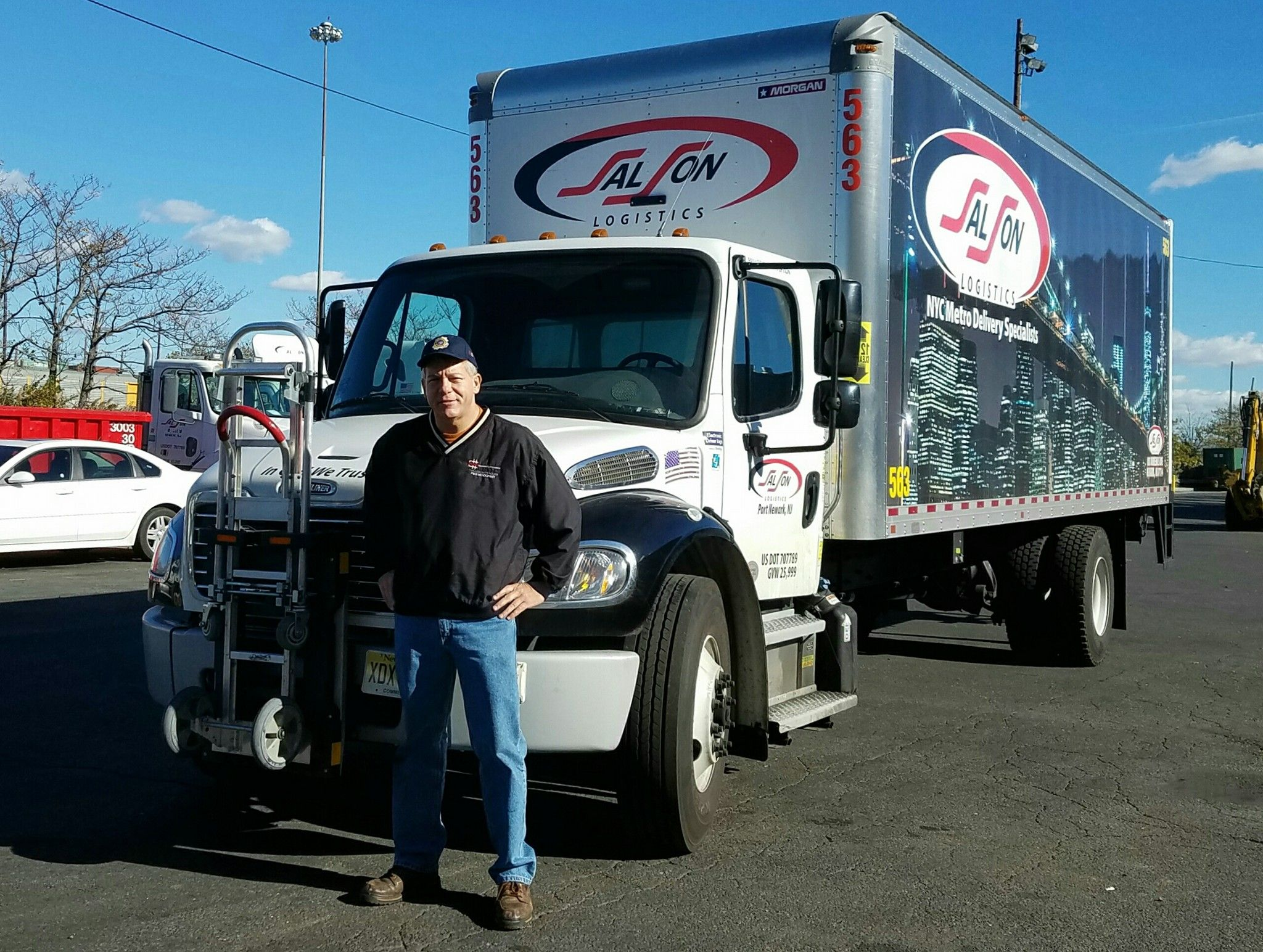 Carl Boettcher National Accounts Manager For Hts Systems Visits Salson Logistics In Port Newark New Jersey Salson Logistics Trucks Hand Trucks Worker Safety