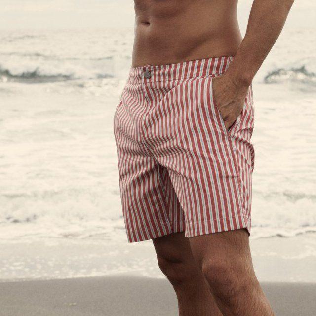 483a6b2bada571 Italian Memory Swim Trunks by Onia l Beachwear for Men l  www.CarolinaDesigns.com