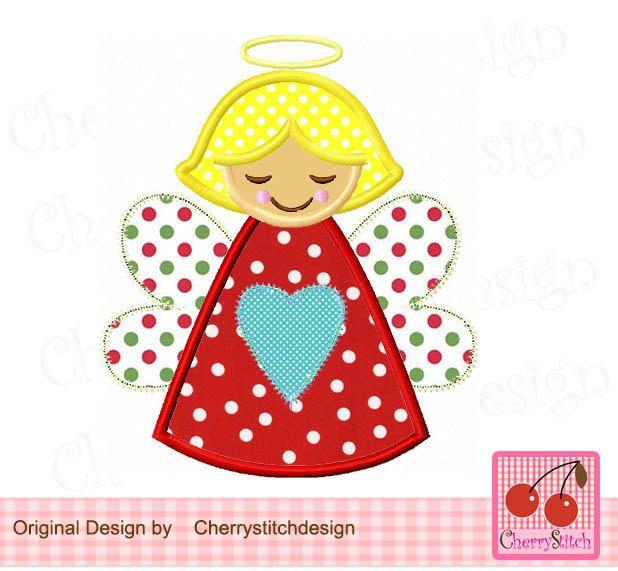 Embroidery Applique Designs Christmas Angel Ekenasfiber