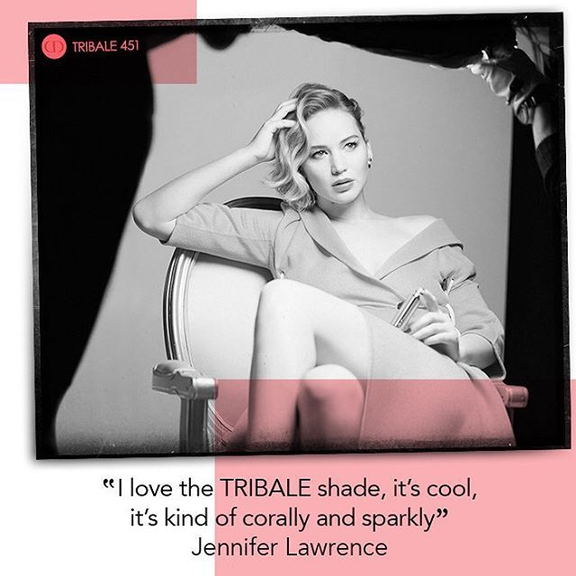 Our edgy #451 pearlized coral is a dazzling tribute to the TRIBALE earrings. #JenniferLawrence #qotd #shinedontbeshy