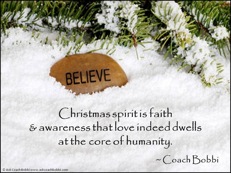 christmas spirit pictures and quotes christmas spirit is faith awareness that coach bobbi quotes