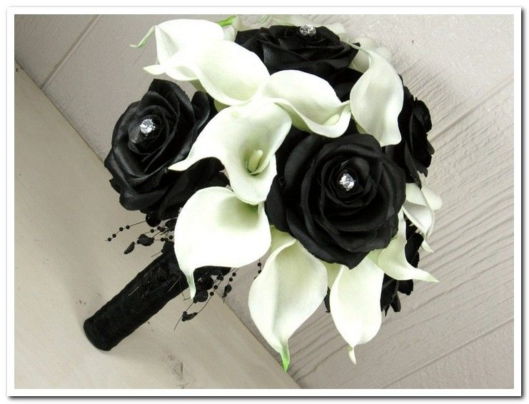 Black And White Calla Lily Wedding Bouquets | My Style | Pinterest ...