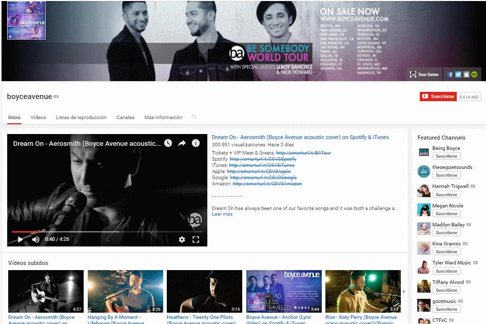la bandas de los dos mil millones de reproducciones en youtube en promocionmusical.es: