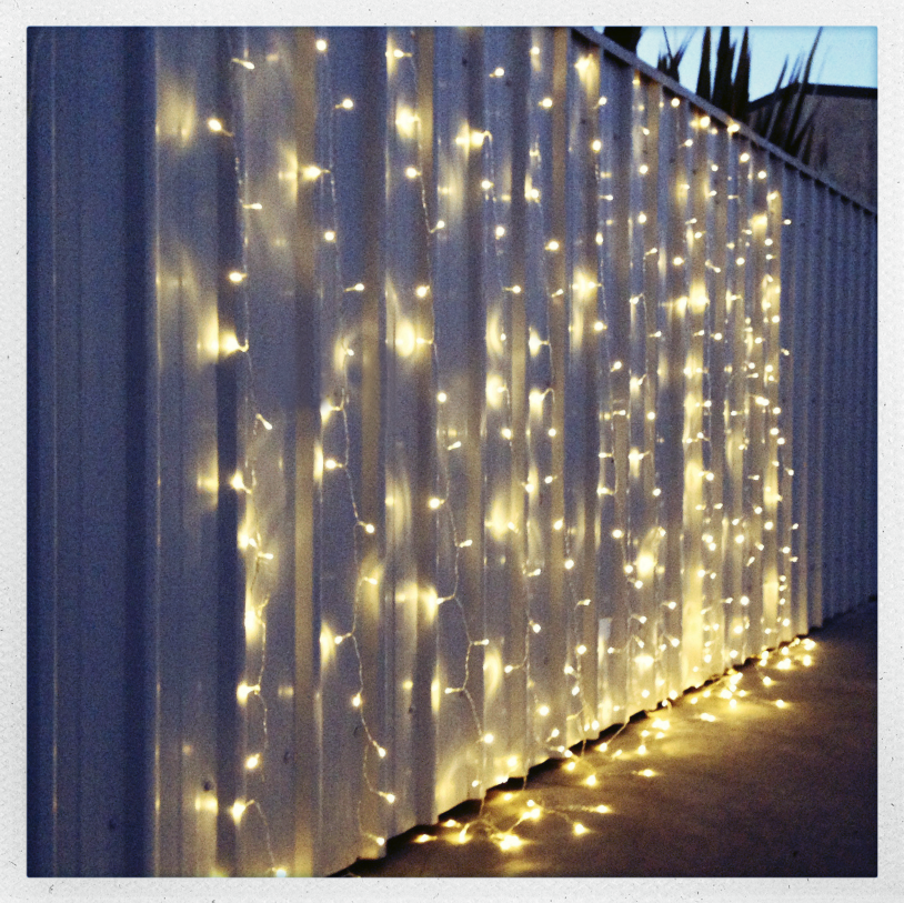 Warm White LED Fairy Light Curtain 3m X 3m From My Wedding Store