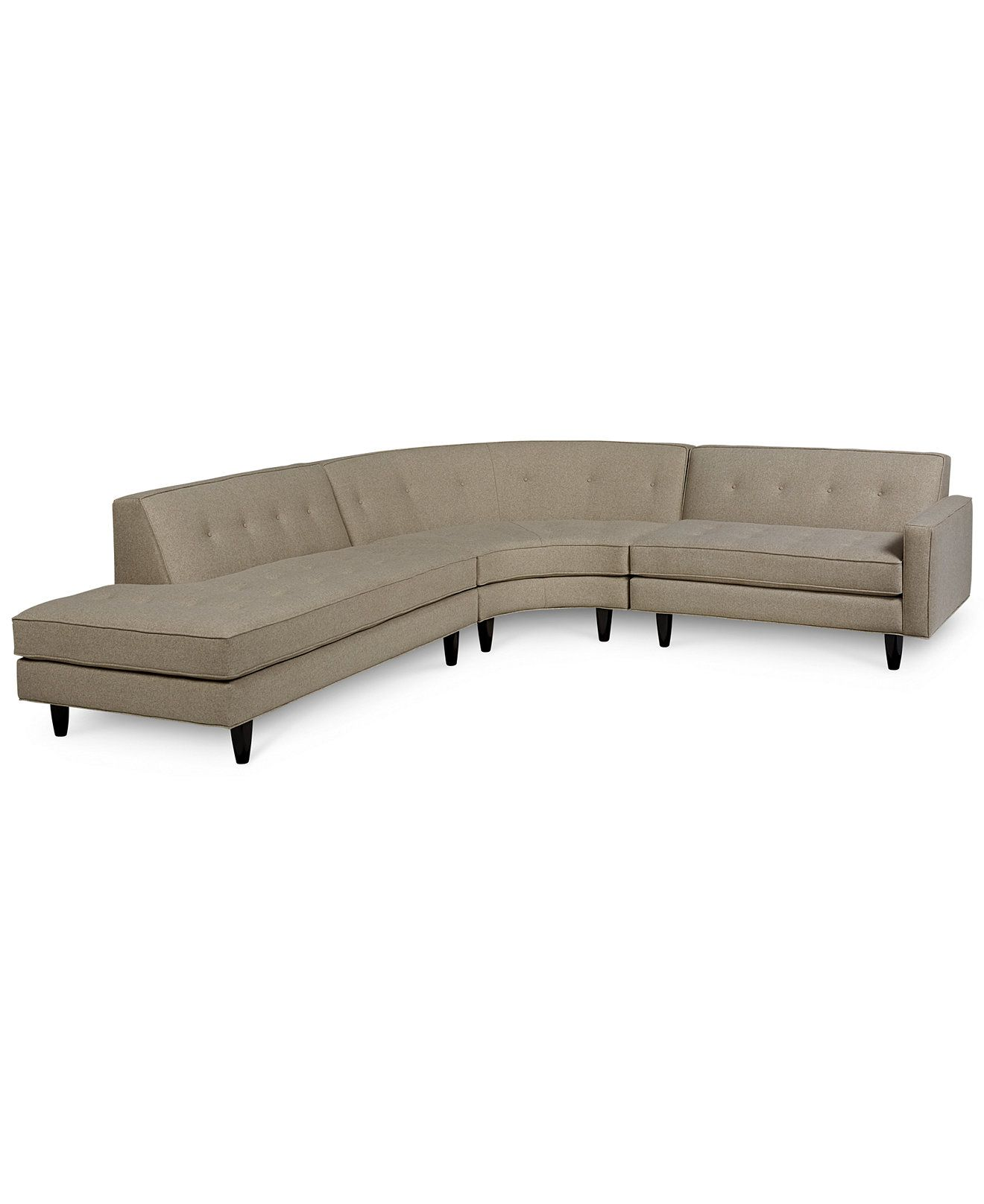 Shayla 3 Piece Curved Sectional Sectional Sofas Furniture