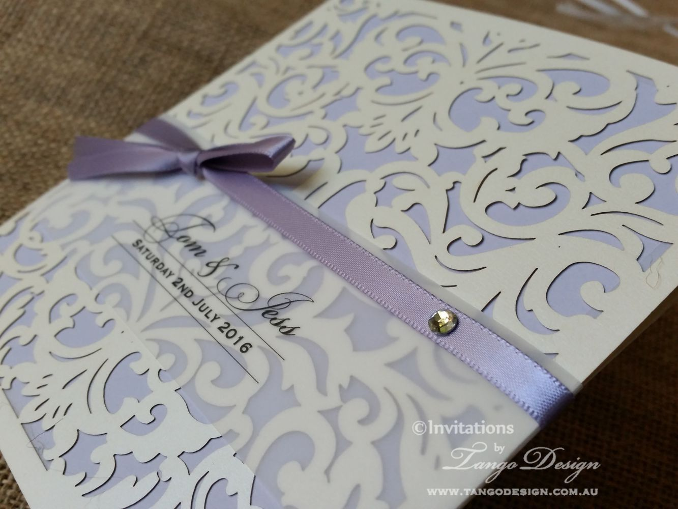 Pocket laser cut invitation with information wedding cards and ...