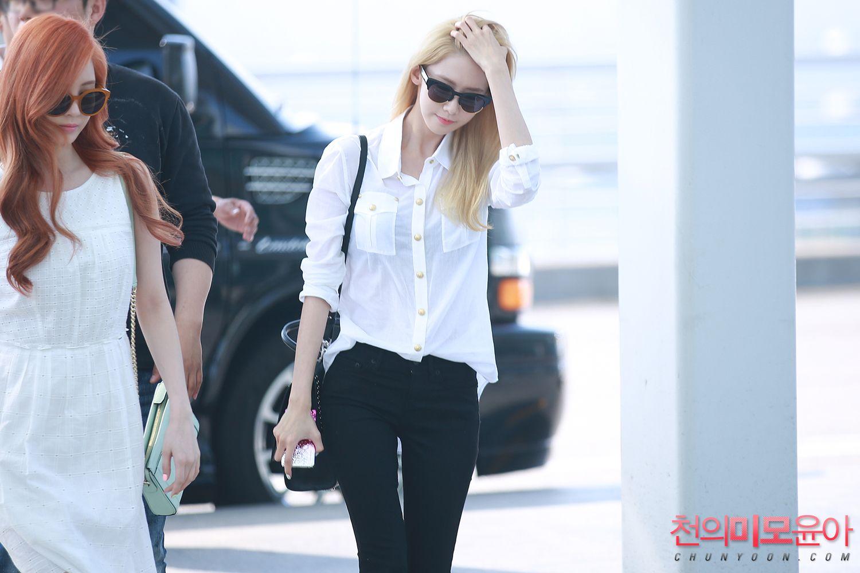 snsd seohyun amp yoona airport fashion 150610 2015 snsd