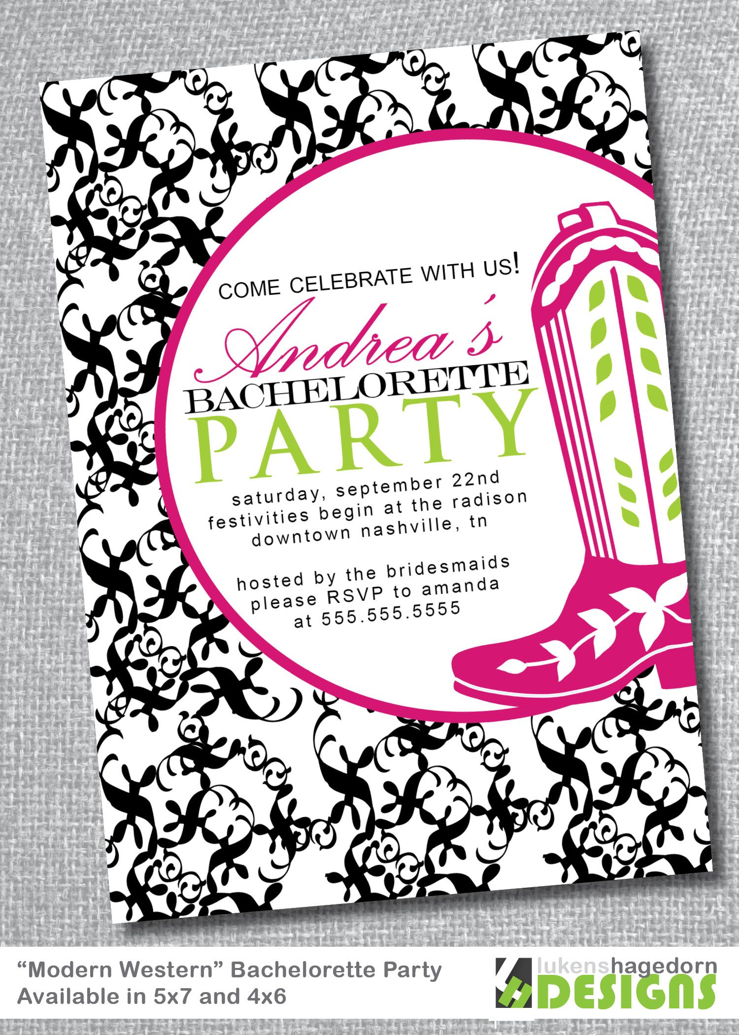 Western Bachelorette Party Invitation | Hen nights, Party ...