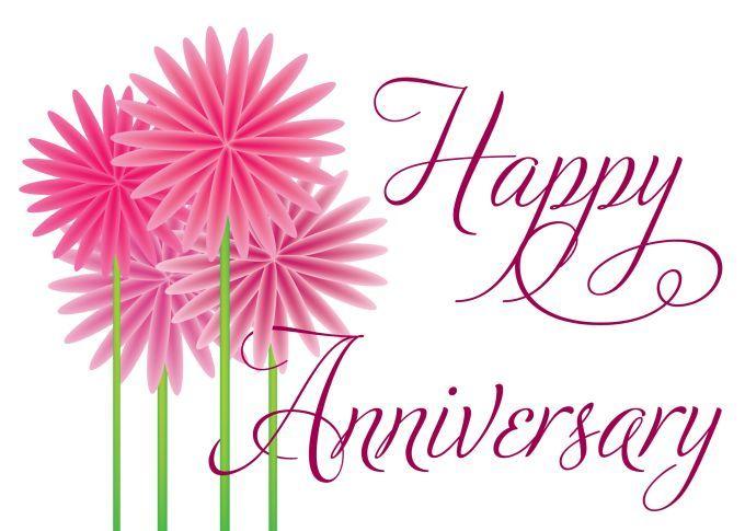 Happy Anniversary Fun Flowers Work Anniversary Wedding Anniversary Cards Happy Anniversary Cards