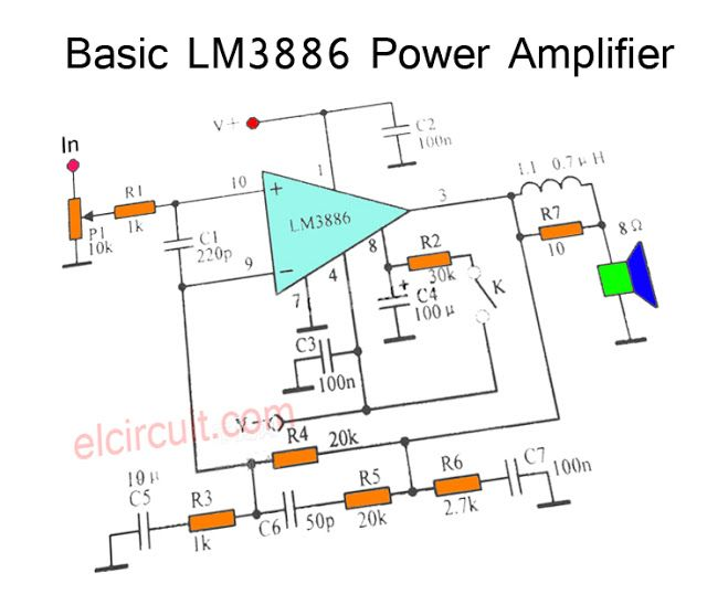 200w stereo high power amplifier lm3886 audio schematic stereo amplifier audio amplifier. Black Bedroom Furniture Sets. Home Design Ideas