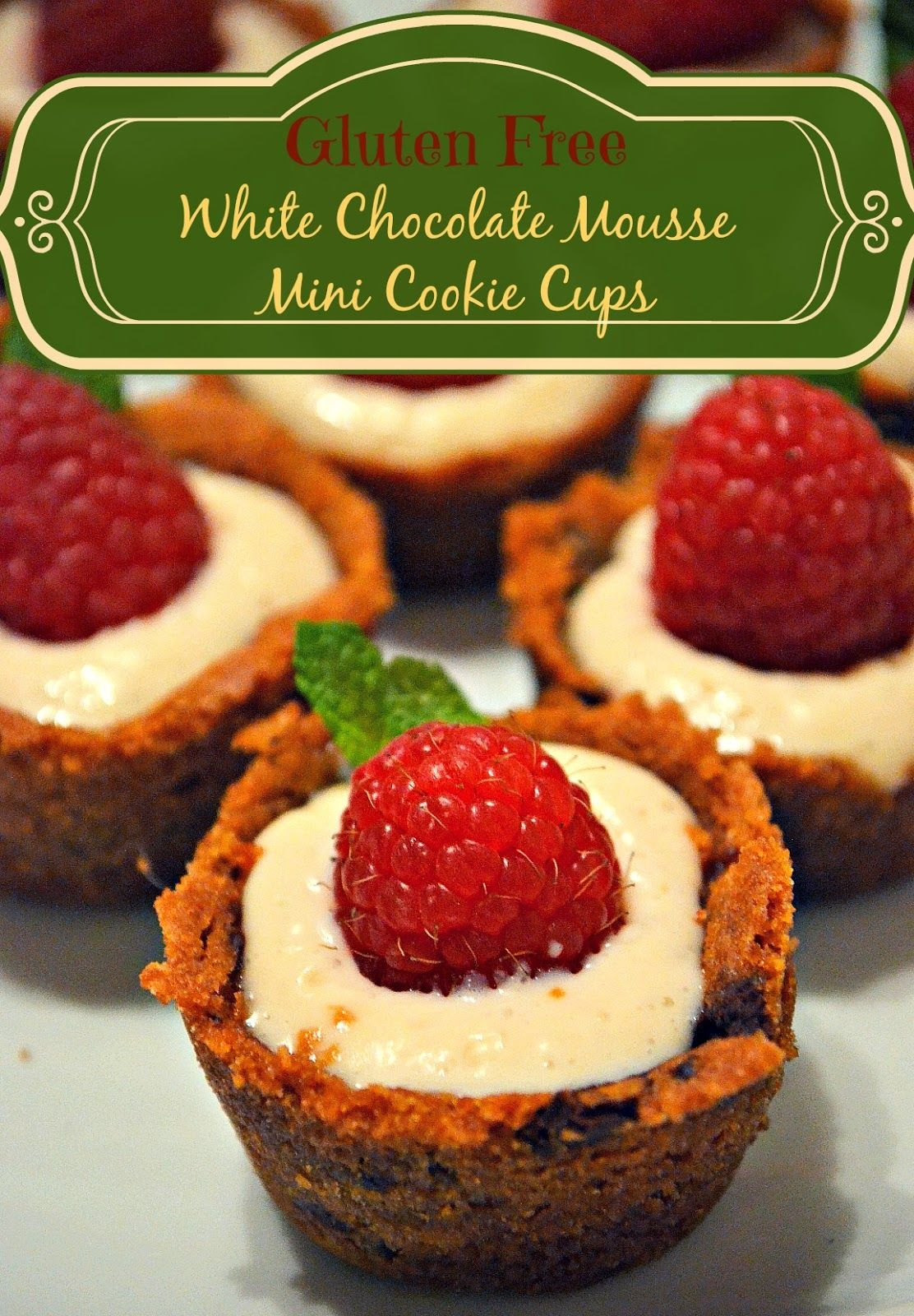 Gluten Free White Chocolate Mousse Mini Cookie Cups ...