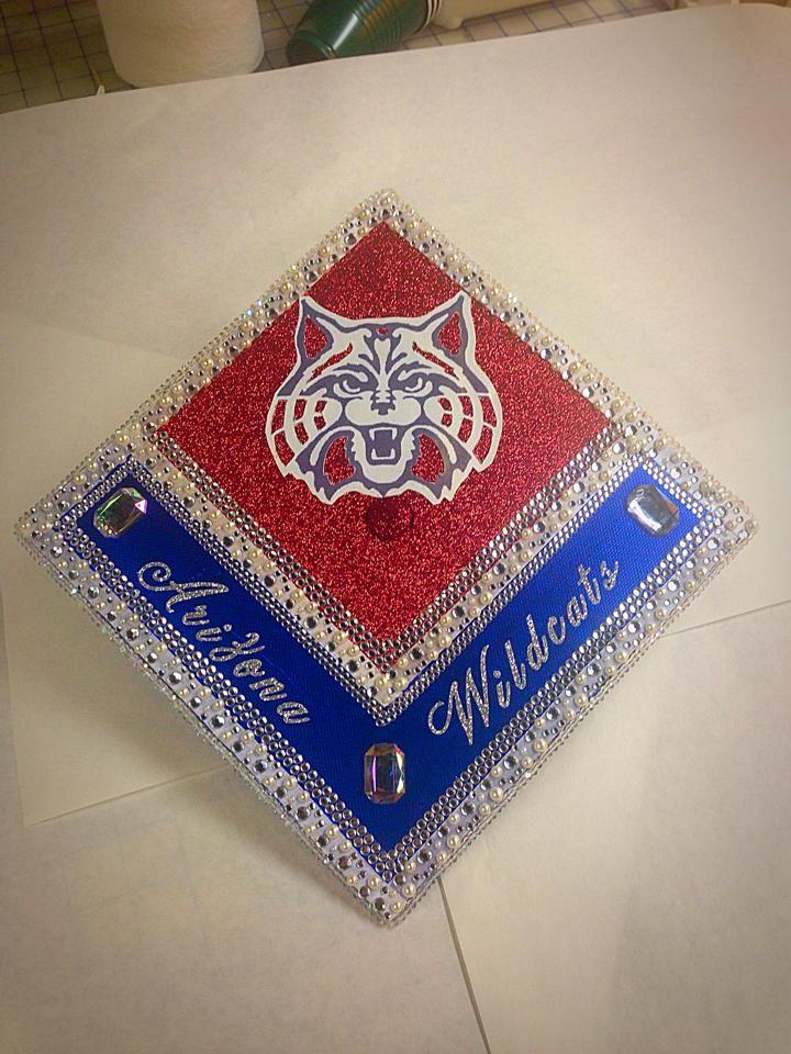 University of Arizona decorated graduation cap DIY grad highschool ...