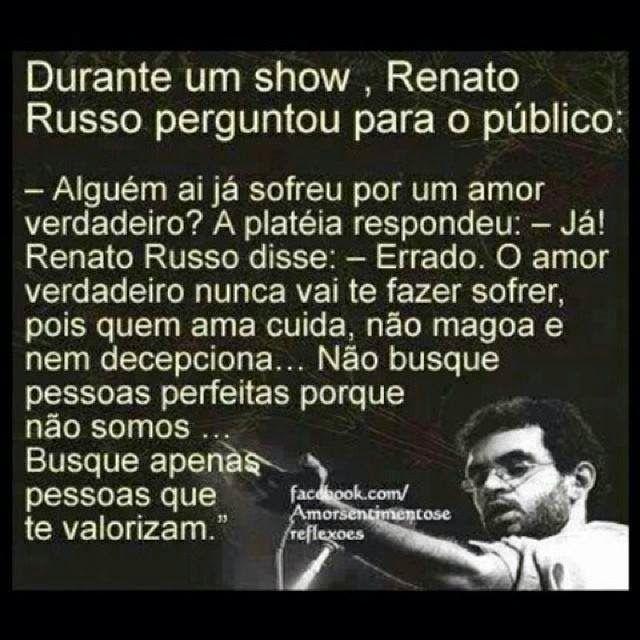 Solaris Alguem Ja Sofreu Por Amor Renato Russo Frases