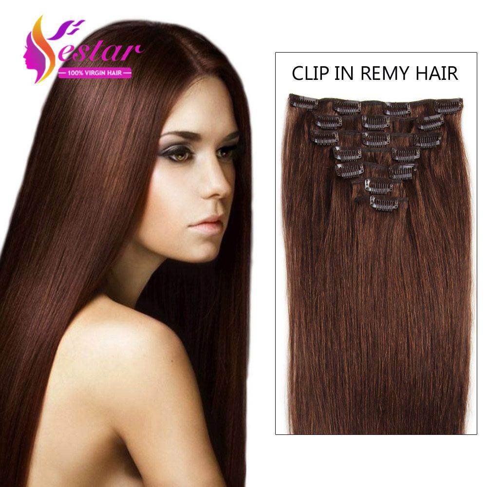 Aliexpress Buy 4 Remy Clip In Hair Extensions 7 Piecese Set