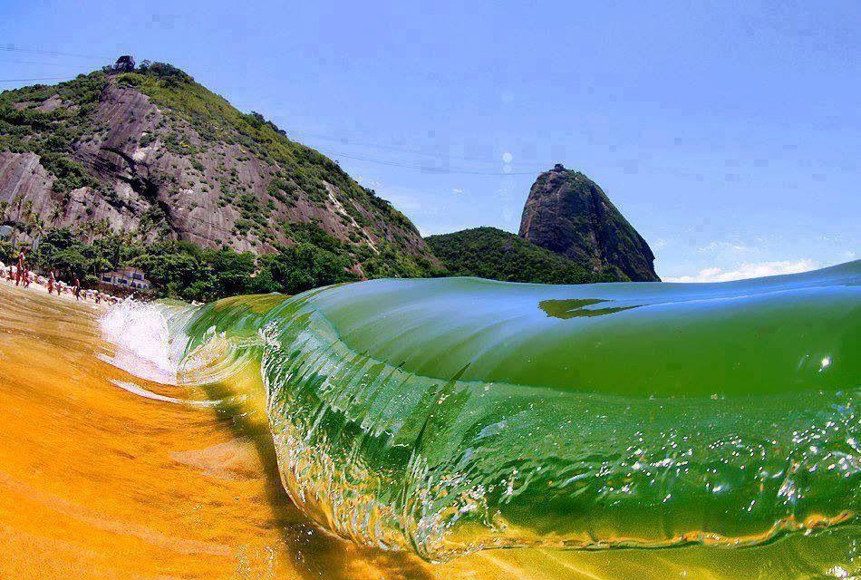 Praia vermelha na Urca