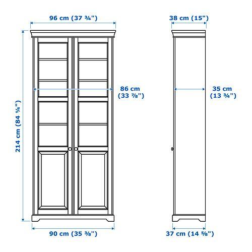 liatorp biblioth que vitr e blanc ikea et id e. Black Bedroom Furniture Sets. Home Design Ideas