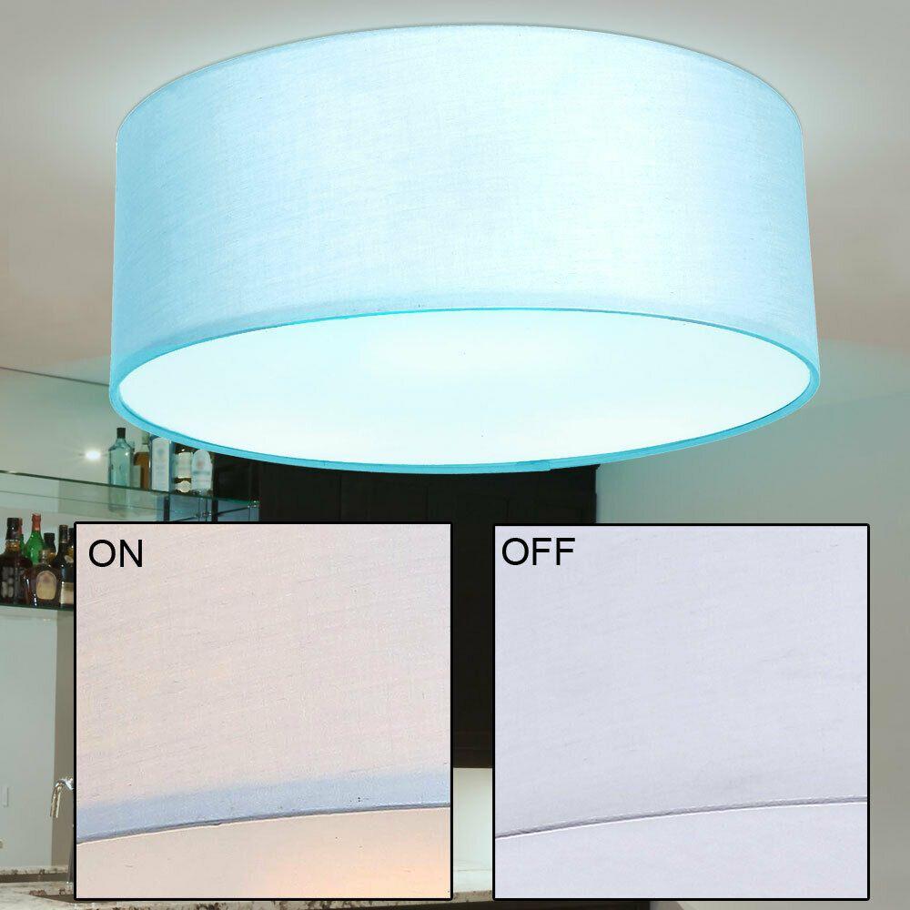 Led Decken Lampe Rund Rgb Farbwechsel Gaste Zimmer Fernbedienung Leuchte Grau Commerce
