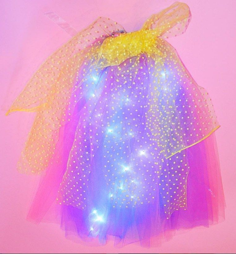 This LED rainbow dress is a magical display of lights and color