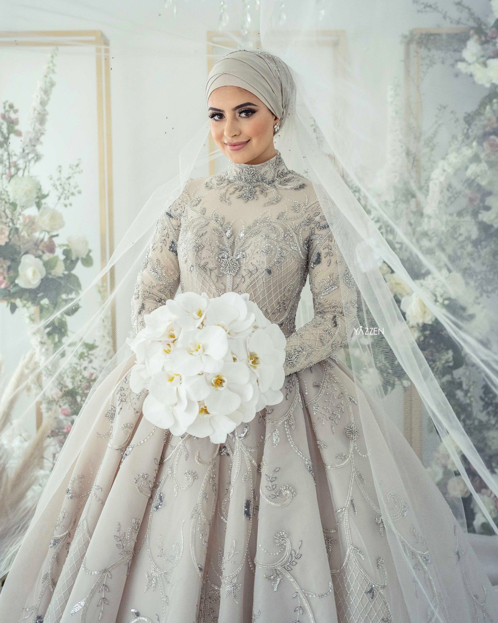 Steven Khalil Wedding Dress  Muslim wedding dress hijab bride