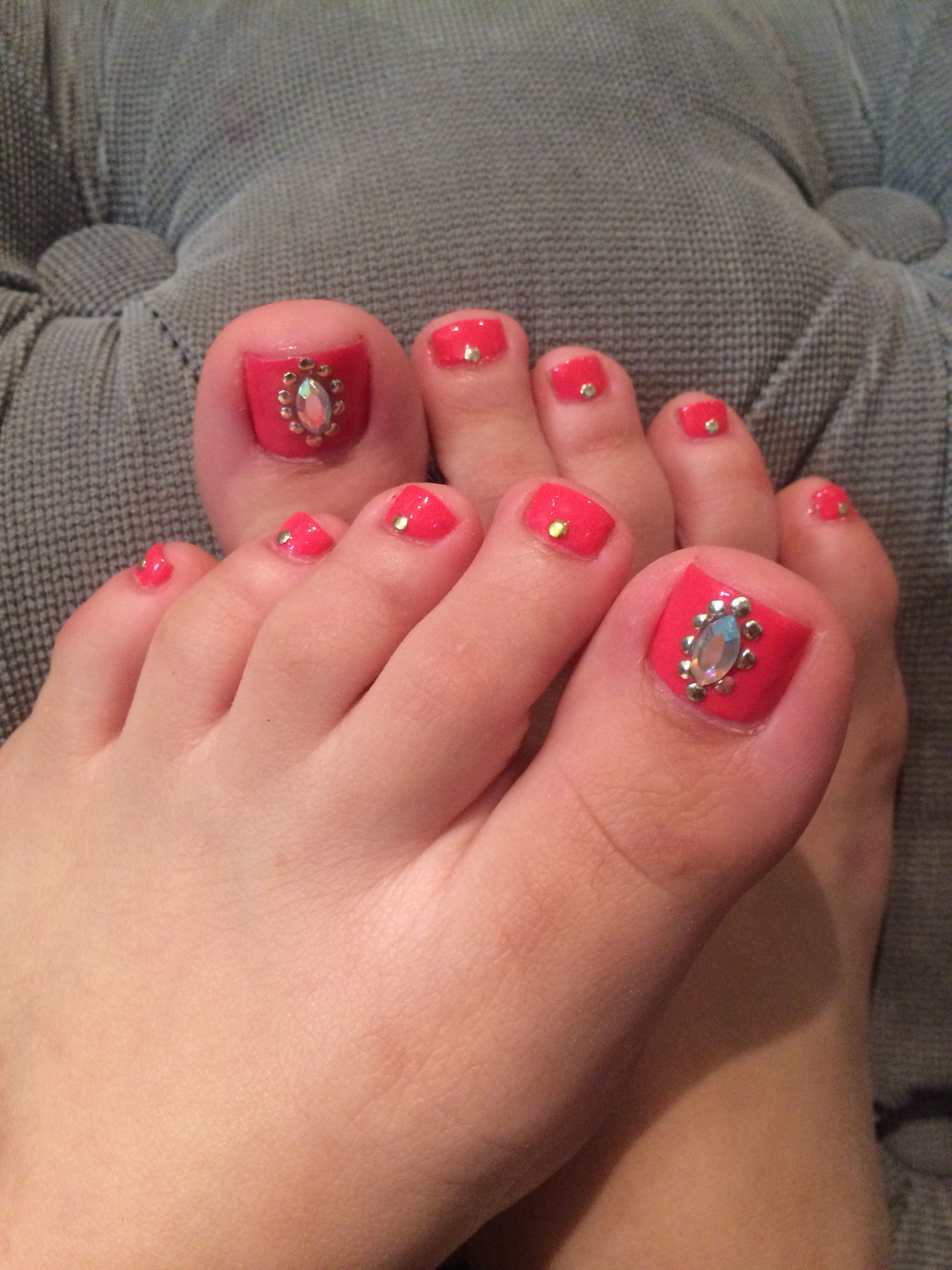 U as de pies decoradas toenails pedicure nails toes - Unas de pies decoradas ...