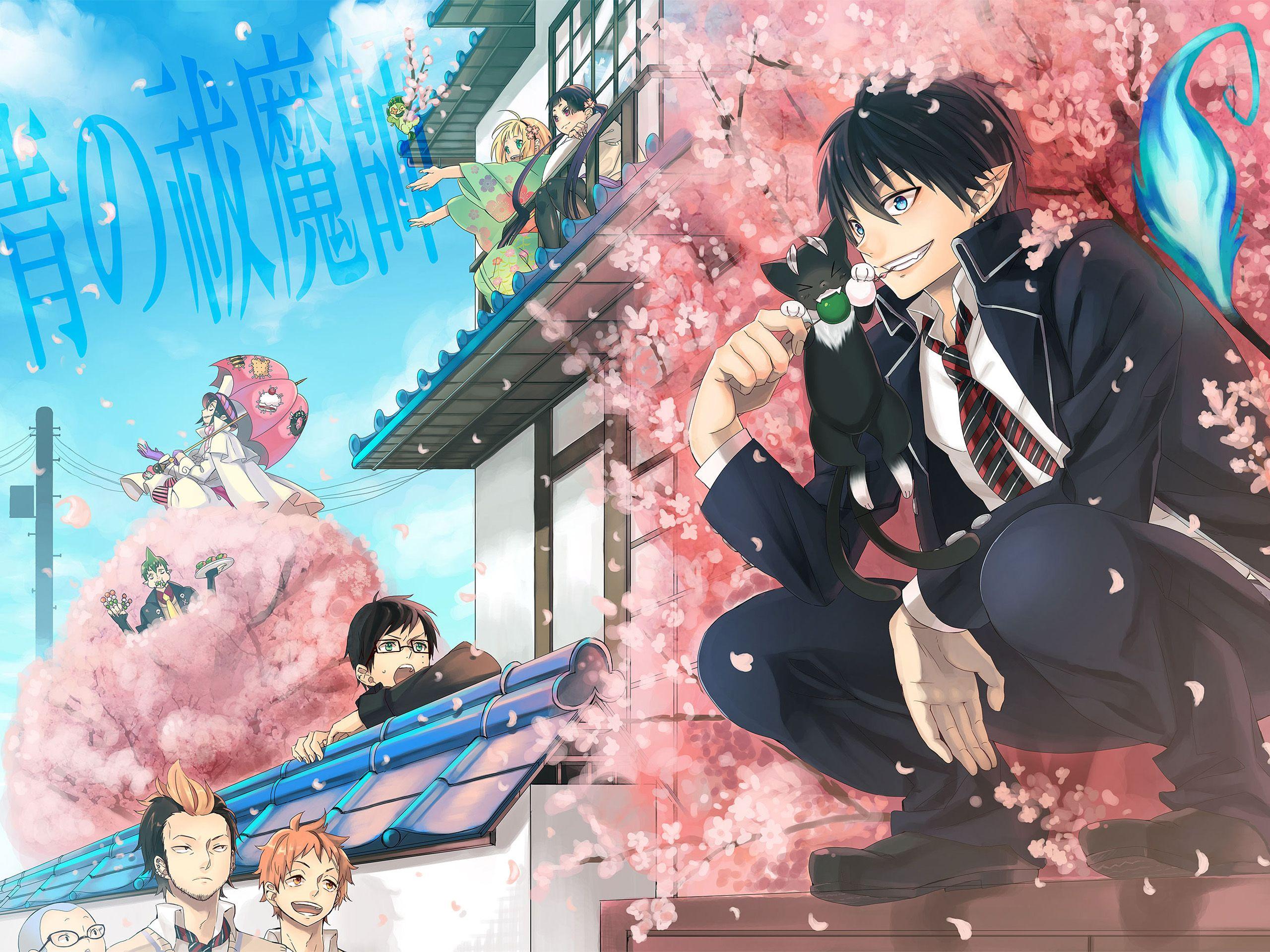 Anime Blue Exorcist Konekomaru Miwa Yukio Okumura Renzo Shima